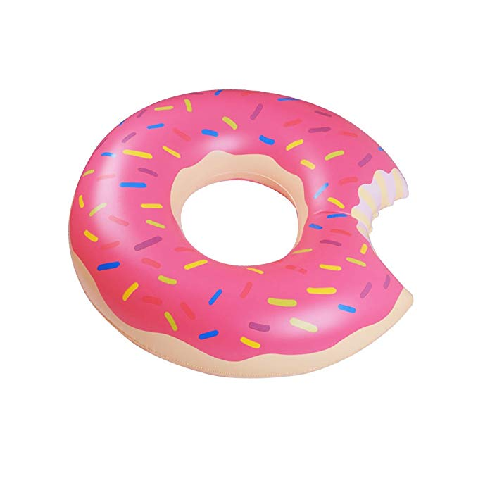 Yaye Donut Pool Float,Doughnut Float Pink for Summer,Funny Inflatable Vinyl Pool or Beach Toy, 39.3 inch/100cm