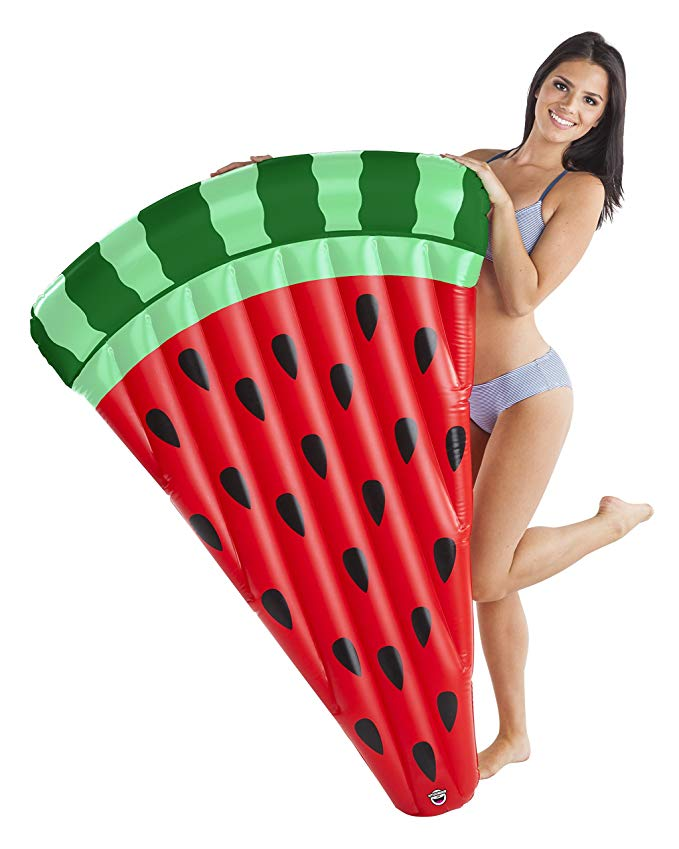 BigMouth Inc. Giant Inflatable Watermelon Slice Pool Float, Patch Kit Included, Durable Swim Tube