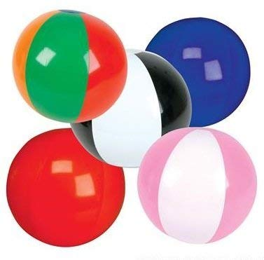 Smart T inc. 100 Mini Inflatable Beach Ball Bulk (Approximately 5