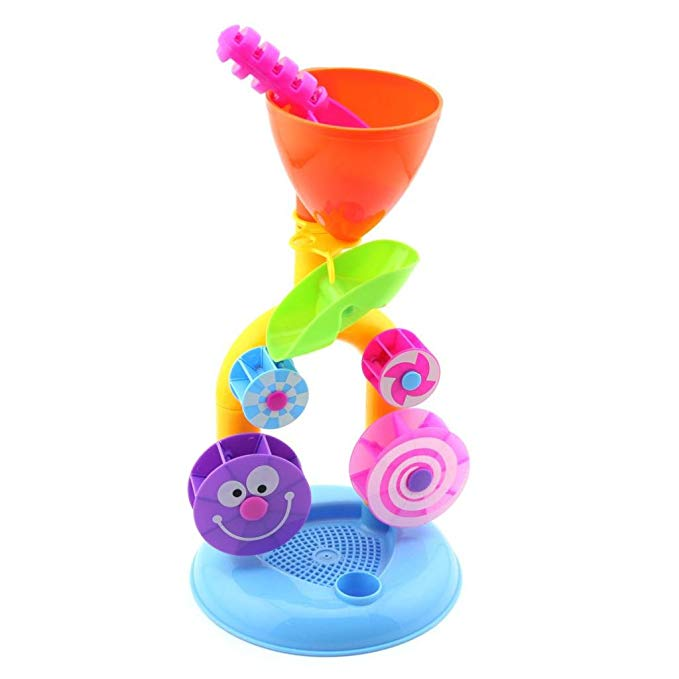 Owfeel Baby Water Toy Sandglass Waterwheel Water Truck Toy Child Beach Toys