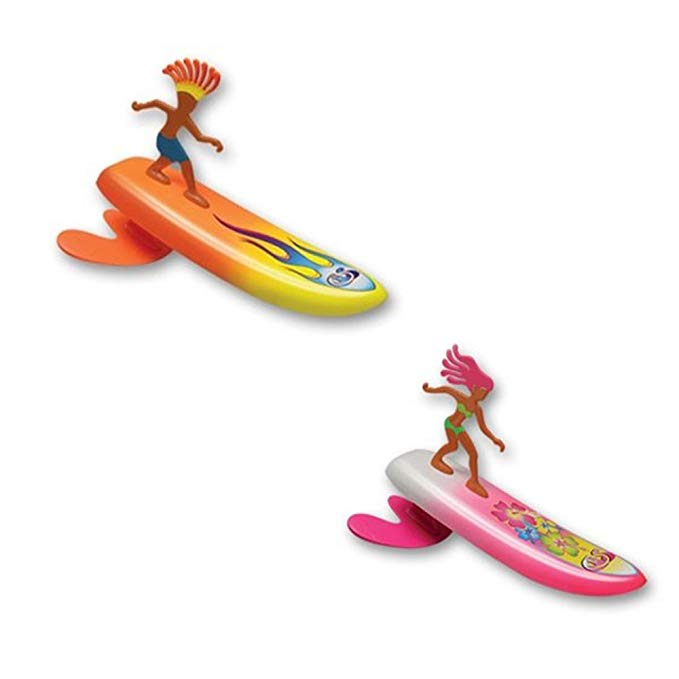 Surfer Dudes Wave Powered Mini-Surfer and Surfboard Beach Toy - 2 Pack - Sam and Bobbi