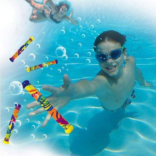Sizzlin' Cool Dive N' Grab Dive Sticks - 5-Pack (Colors/Styles Vary)