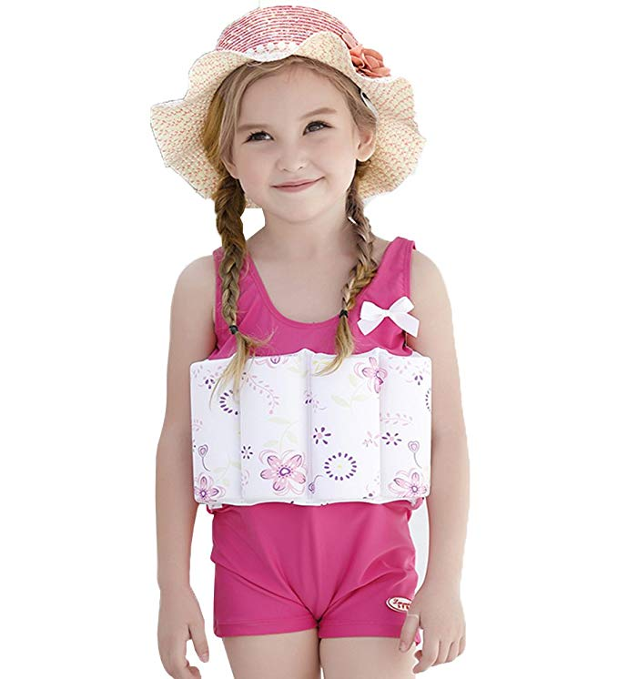 Qubskry Floatation Swimsuits with Adjustable Buoyancy for 1 to 10 Years Baby Girls and Boys