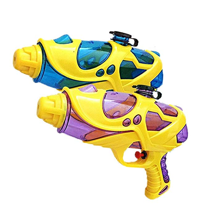 Water Squirt Gun, 2 Pack Water Guns for Kids Toddler, Super Soaking Water Blaster Pistol Shooters Launcher Gun Pool Toys for Pet Trains