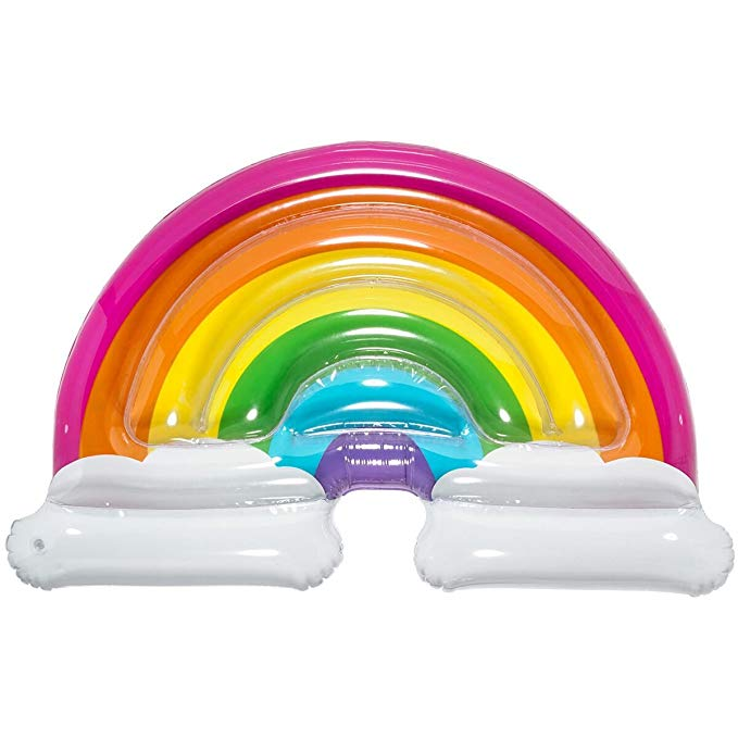3C4G Rainbow & Clouds Pool Float