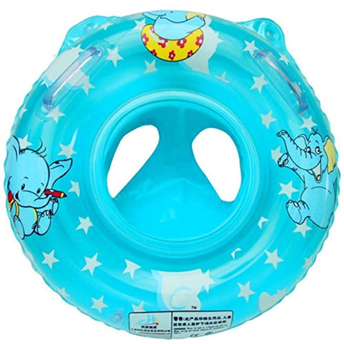 YaSaShe Child Inflatable Swimming Toddler Safety Aid Float Seat Ring BLUE