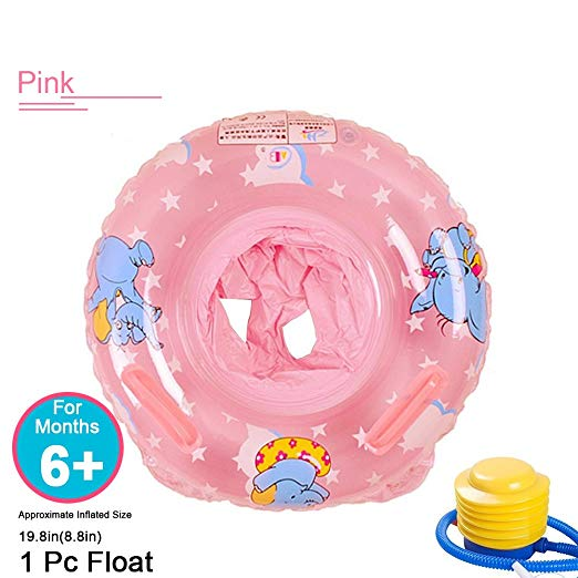 Baby Inflatable Pool Float Toy, Infant Swimming Ring Kids Pools Floats Seat Boat, Safety Small Pool Rings Swim Trainer Water Fun Game Bath Accessories For 3-36 Months Children