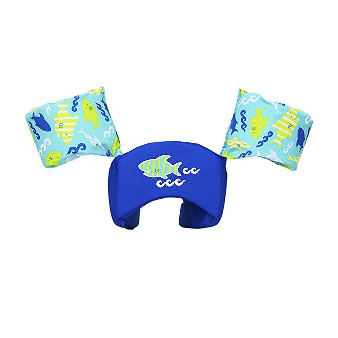 SwimWays Swim Trainer PFD, Blue Shark