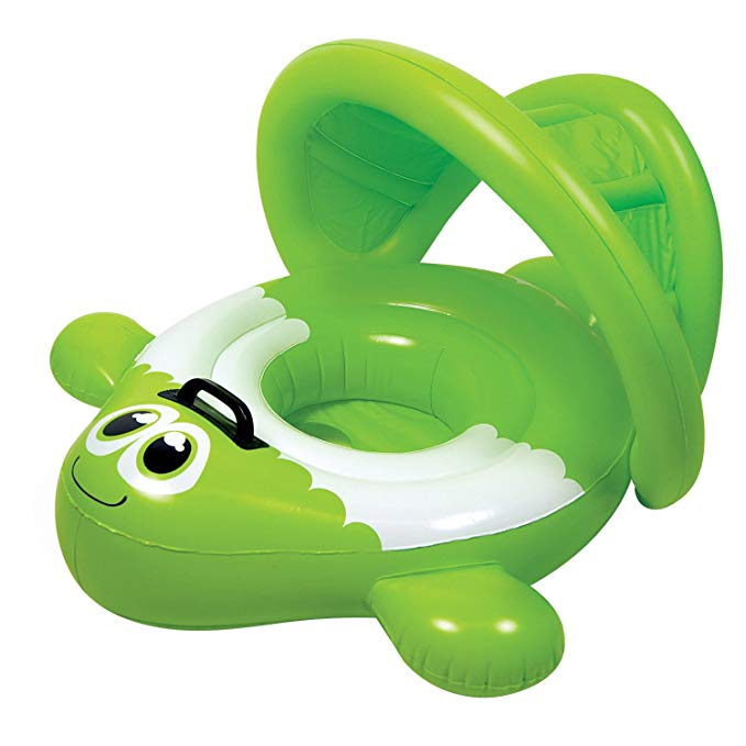 Poolmaster 81551 Green Guppy Baby Rider- Learn-to-Swim
