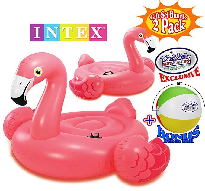 Intex Mega Flamingo Inflatable Island (86