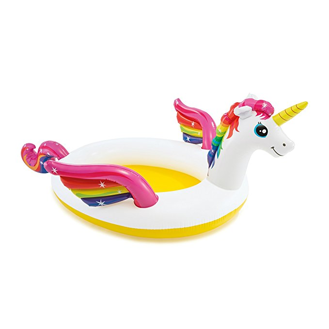 Intex Mystic Unicorn Inflatable Spray Pool, 107