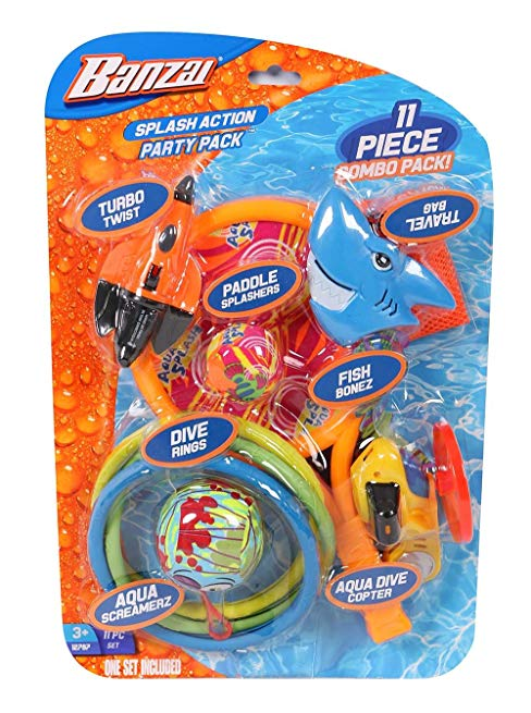 Spring & Summer Toys Banzai Splash Action Party Pack (11-Piece Combo Pack)