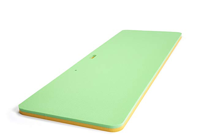 Floatation iQ Personal Floating Oasis - Premium Floating Water Pad/Pool Mat/Lounger - Made in USA w/Durable (PE) Tear Resistant Foam (Yellow/Lime)