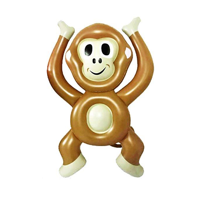 Keenery Giant 6 Foot Raft Monkey Emoji Pool Float for Kids and Adults 72