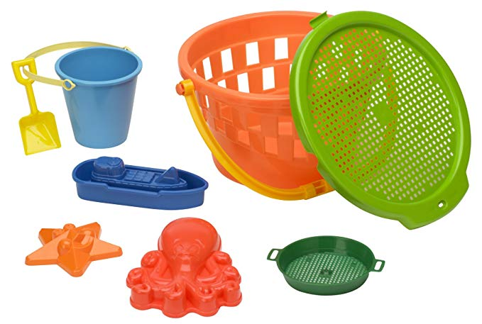 American Plastic Toy 8 Piece Jumbo Value Bucket