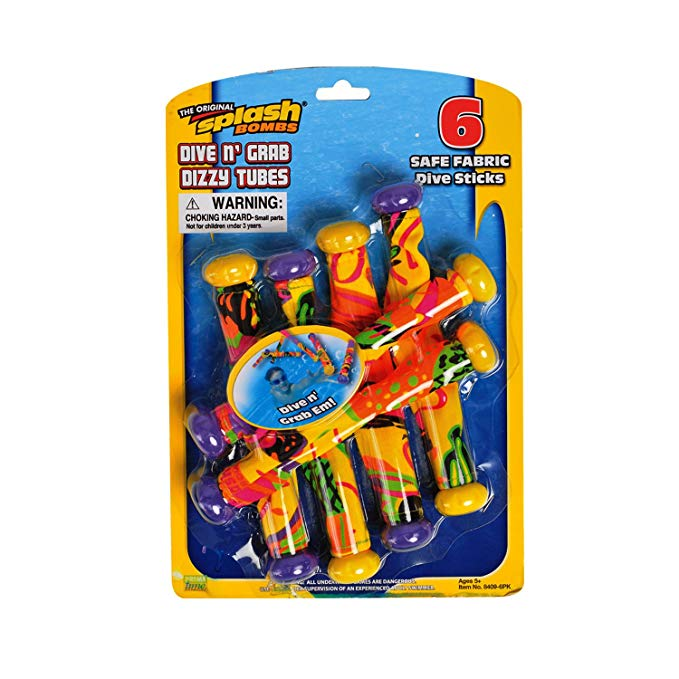 Prime Time Toys Water & Diving Games Dive N Grab 6 Pack - Colors May Vary