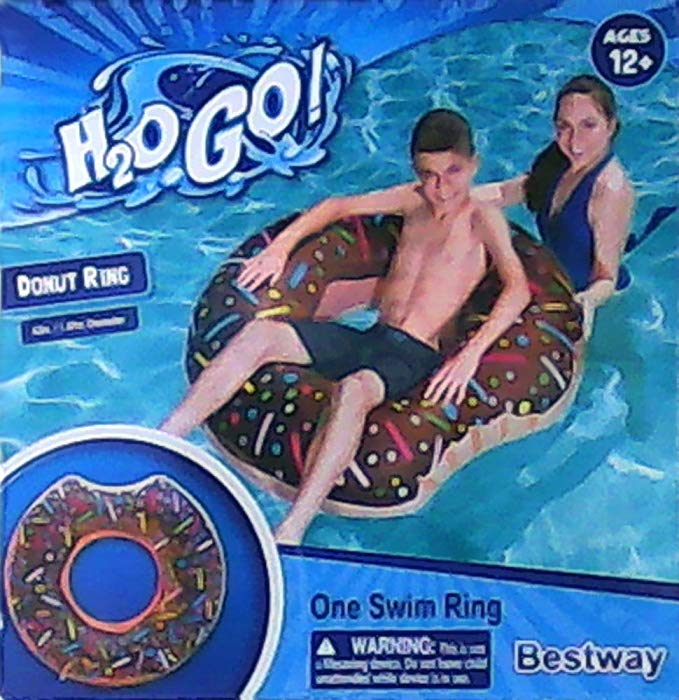 Bestway Large Chocolate Donut Inflatable Swim Ring - 42