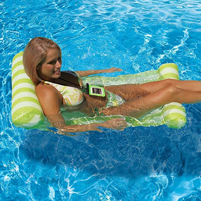 Topist Pool Floats Adults, Pool Loungers Floats Adults, Premium Inflatable Swimming Pool Rafts Floats Universal Waterproof Case, Green