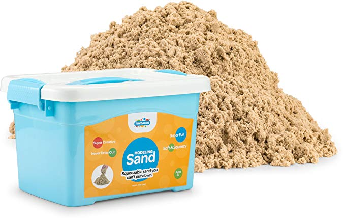 Toydaloo Motion Sand Play Sand for Kids by, 11 pound 5KG (Naturel)