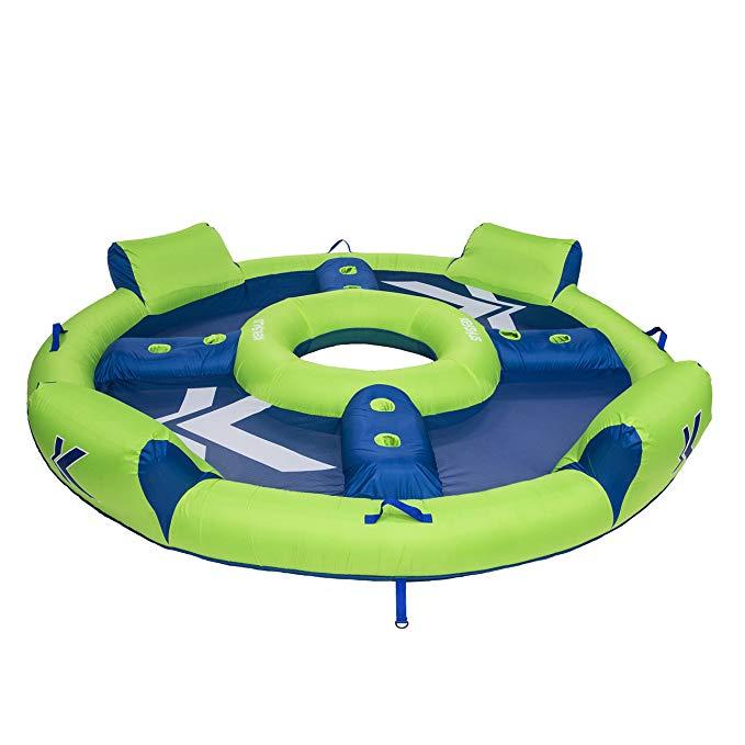 Kelsyus Big Nauti Elite 4-Person Inflatable Pool Float Tube Raft