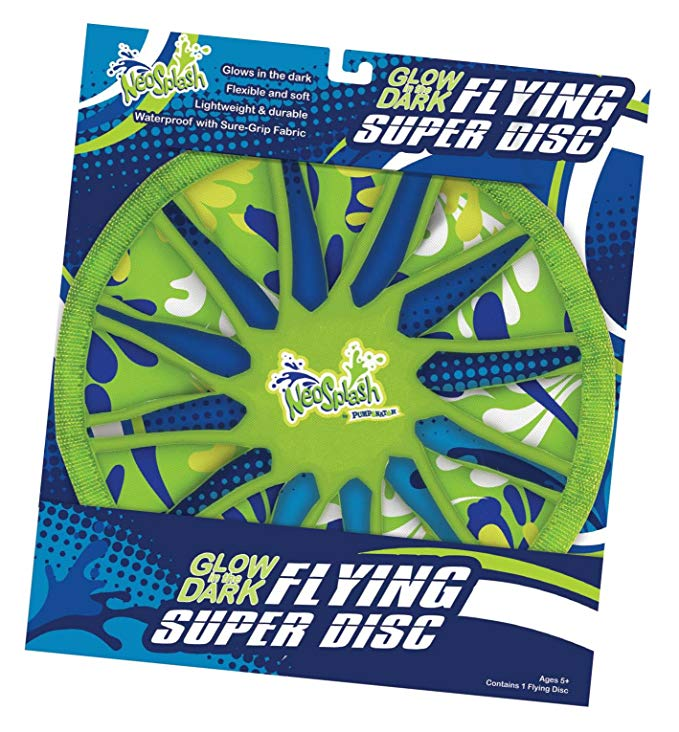 Pumponator Neosplash Flying Disc, Glow in The Dark