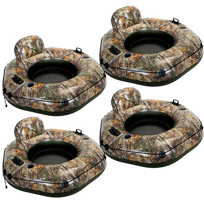 Intex Realtree River Run Tube Connect Lounge Inflatable Raft 58853EP (4 Pack)