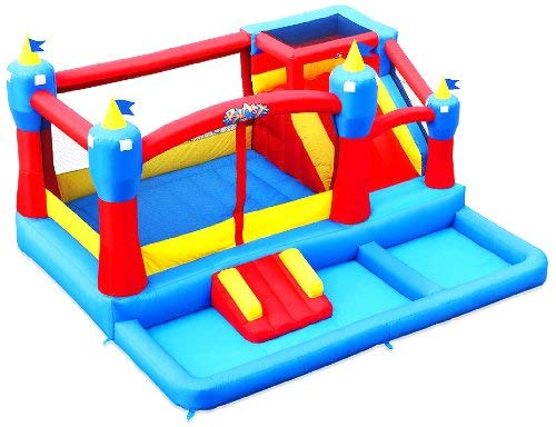 Blast Zone Misty Kingdom Inflatable Bouncer - Water Park with Slide