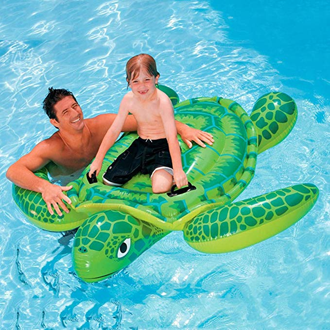 YOUDirect TM 191170CM Sea Turtle Ride Swimming Pool Inflatable Giant Turtle Float Toy Floating Bed Floating Mat for Kids Children Adult