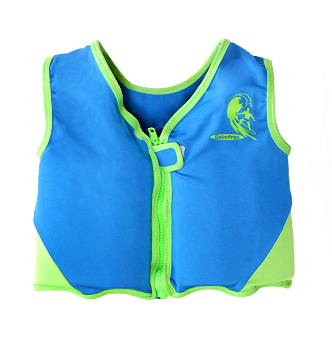 Boys Blue/Green Swim vest Learn-to-Swim Floatation Jackets Size Medium for Kids Age 3.5-5.5 Years Old