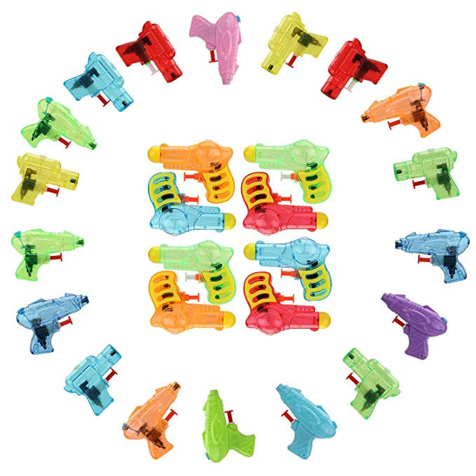 WASING 26Pcs Water Super Soaker Blaster for Kids and Adults, Squirt Toy, Bathroom Toys, Swimming Pool Toys, Water Fight Party Favors Toy, Foam Shooter Toy for toddlers, Family Party Gifts for Children
