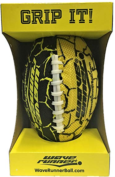 Wave Runner Grip It Waterproof Football Size 9.25 inches with Sure Grip Technology Let's Play Football in The Water! (Yellow)