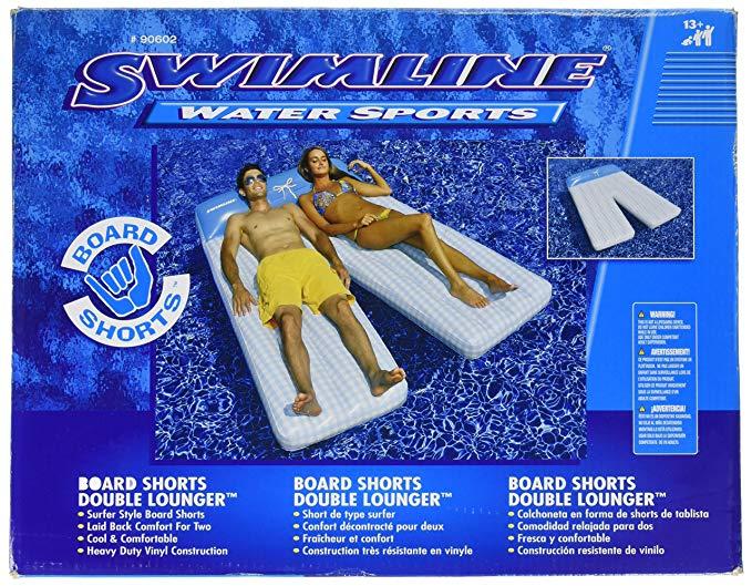 Swimline Board Shorts Double Mat Pool Float