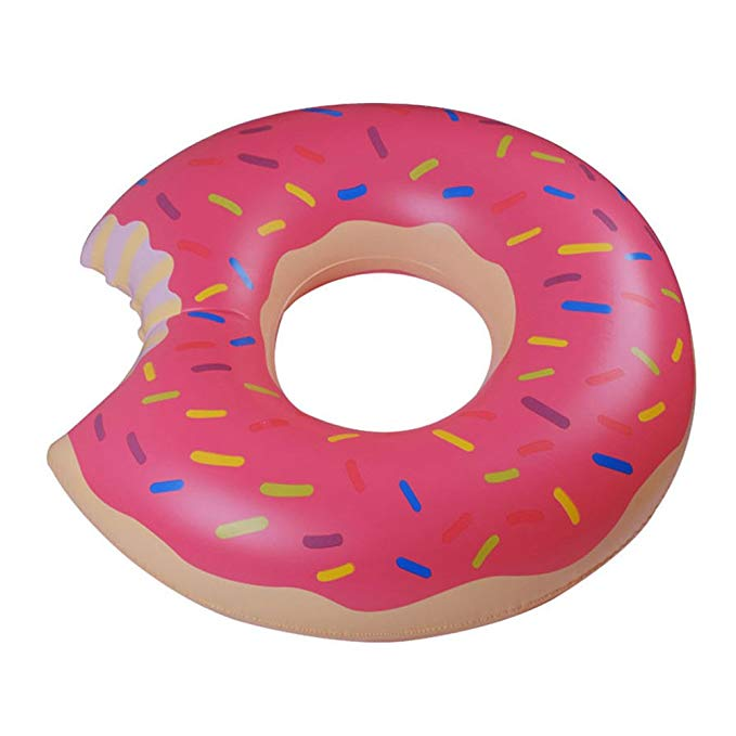 Wood Bury Swim Rings Inflatable Donut Pool Ring Tube Kids Swim Party Toy Summer Lounge Raft Strawberry 70CM