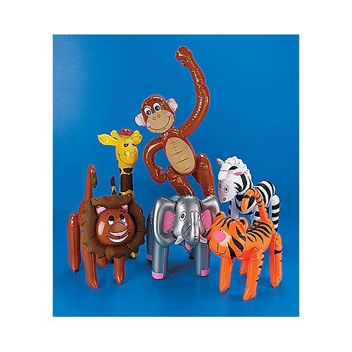 Inflatable Zoo Jungle Animal Assortment (1 dz)