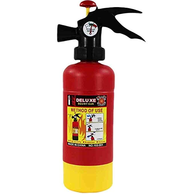 Bininbox Fire Extinguisher Water Gun Soakers Toys for Children Pressure Playing