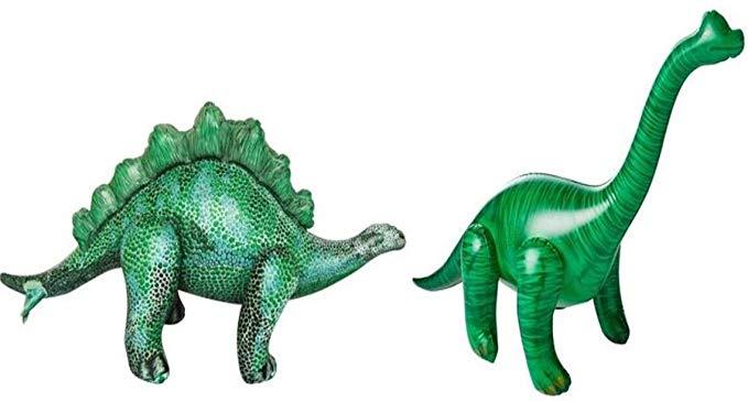 Jet Creations Inflatable Dinosaur 2 Pack - Stegosaurus and Brachiosaurus
