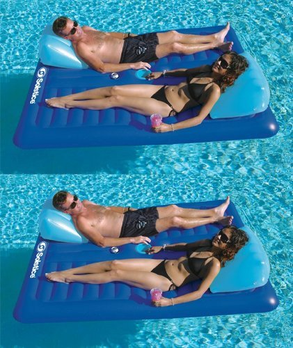 2) New Swimline 16141SF Swimming Pool Inflatable Durable 2 Person Air Mattresses
