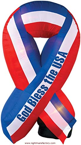 PATRIOTIC 6' TALL RIBBON INFLATABLE 4TH OF JULY DECORATION