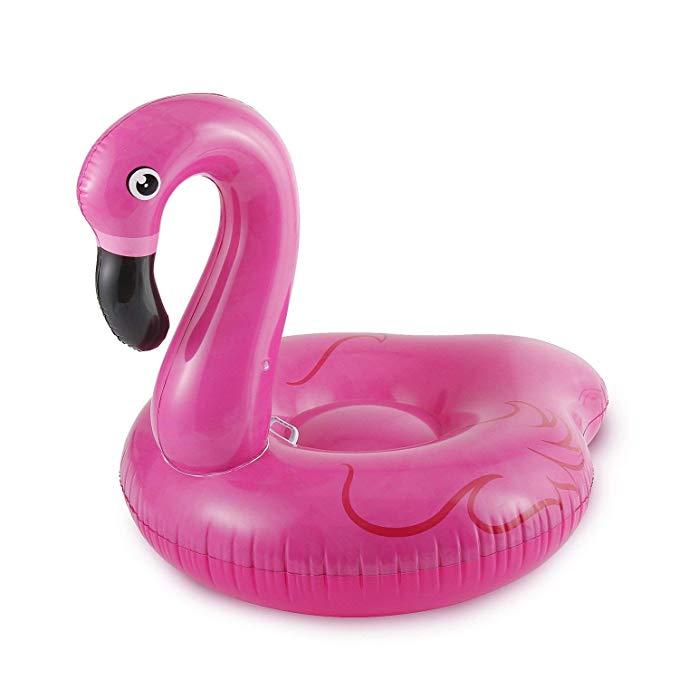 SUMMER WAVES Jumbo Inflatable Flamingo Ride-On Pool Float