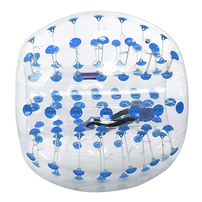 Hindom TPU Transparent Inflatable Bumper Ball Human Knocker Ball Bubble Soccer,Human Hamster Ball for Kids Adults Parties,1.2M/1.5M(US Stock)