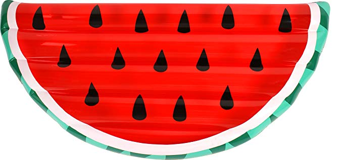 Airtime Inflatable Pool Float Giant Watermelon Slice Lounge Toy Summer 68x28.7x7
