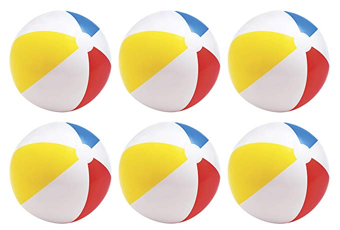 Intex Glossy Panel Colorful Beach Ball, 20