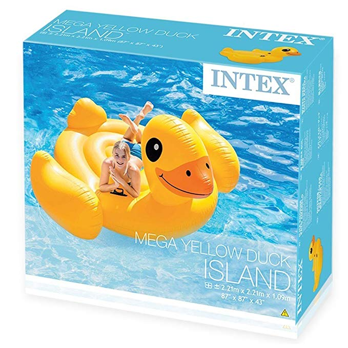 Intex Inflatable Mega Yellow Duck Island Float