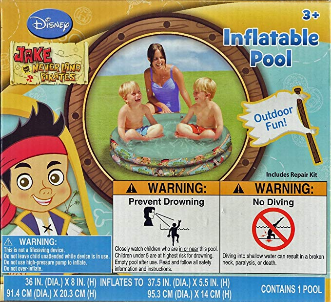 Disney Junior Jake and the Neverland Pirates Inflatable Pool