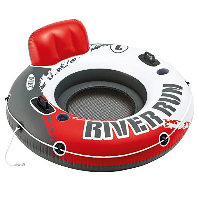 Intex Red River Run 1 Fire Edition Sport Lounge, Inflatable Water Float, 53